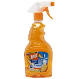 """Help средство для мытья пластиковых окон """"Апельсин"""" с курком"""