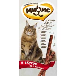 Мнямс Набор лакомых палочек 6 вкусов для кошек