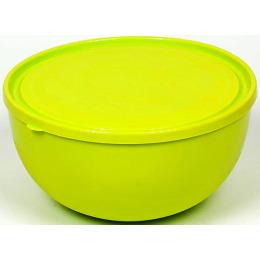 """Пластик центр салатник """"Galaxy. Лайм"""" с крышкой"""