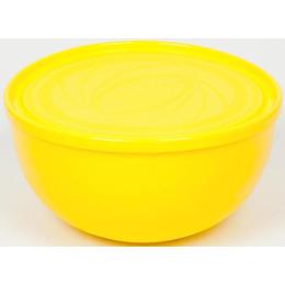 """Пластик центр салатник """"Galaxy. Лимон"""" с крышкой"""