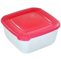 """Plast Team емкость для хранения пищевых продуктов """"Polar. Коралловый"""" квадратная"""