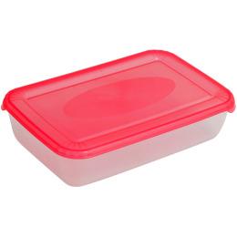 """Plast Team емкость для хранения пищевых продуктов """"Polar. Коралловый"""" прямоугольная"""