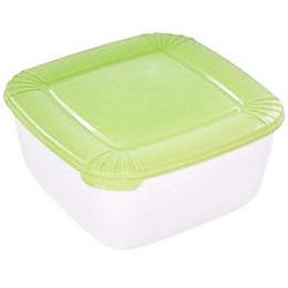 """Plast Team емкость для хранения пищевых продуктов """"Polar. Лаймовый"""" квадратная"""