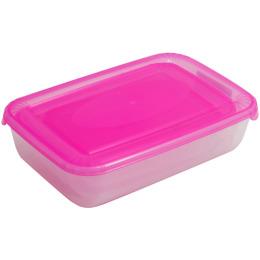 """Plast Team емкость для хранения пищевых продуктов """"Polar. Сиреневый"""" прямоугольная"""