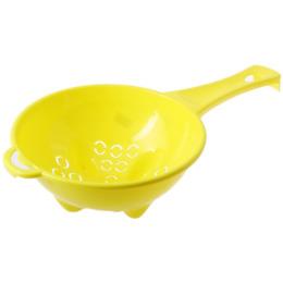 """Пластик центр дуршлаг """"Organiq. Лимон"""" с ручкой d=200 мм"""