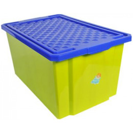 """Пластик центр детский ящик для хранения игрушек """"Little Angel. Фисташковый""""  большой на колесах"""