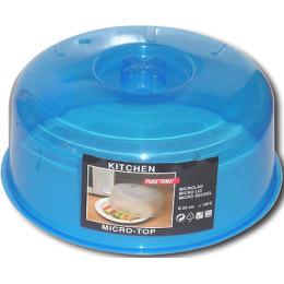 Plast Team крышка для СВЧ голубая d=248 x 110мм