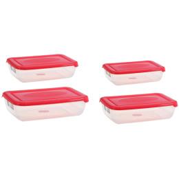 """Plast Team набор емкостей для хранения пищевых продуктов """"Polar. Коралловый"""" прямоугольных"""