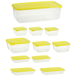 """Plast Team набор емкостей для хранения пищевых продуктов """"Polar. Лаймовый"""""""