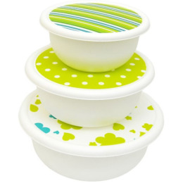 "Plast Team набор мисок ""Lime Mix""с крышками"
