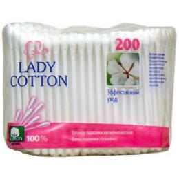 Lady Cotton ватные палочки  в полиэтиленовой упаковке зип лок