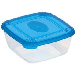 """Plast Team емкость для хранения пищевых продуктов """"Polar. Голубой"""" квадратная прозрачная"""