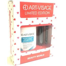 Art-Visage набор 3 тушь, тон 08 + карандаш для глаз, тон 702 + нежное средство для снятия макияжа с глаз