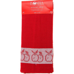 "Bonita набор  ""Яблоко красное""полотенце 70 х 45 см + салфетка 35 х 35 см, жаккард"