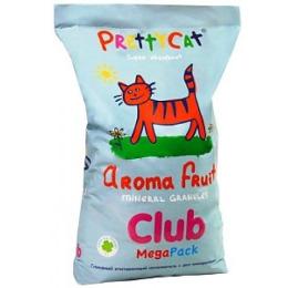 Pretty Cat Наполнитель для кошачьих туалетов глиняный впитывающий с део-кристаллами Aroma Fruit 10кг