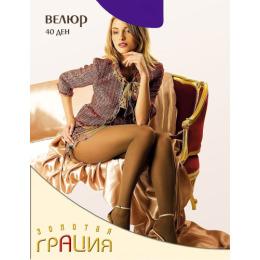 """Грация колготки женские """"ВЕЛЮР 40"""" фиолетовый"""
