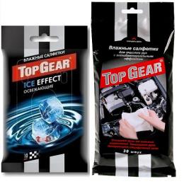 """Top Gear салфетки влажные """"Антибактериальные"""" для рук, 30 шт + салфетки влажные """"Ice Effect"""" освежающие, 10 шт"""
