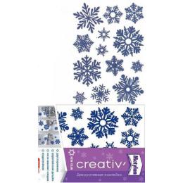 "Metylan наклейка ""Creative. Синие снежинки"" декоративная  24 х 33.5 см"