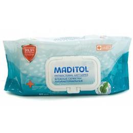 """Maditol влажные салфетки """"Подорожник"""" антибактериальные с крышкой"""