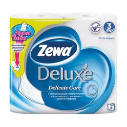 """Zewa туалетная бумага """"Делюкс"""" 3 слойная, тон белая"""