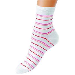 """Грация носки женские """"М 1013 1-АБ"""" бело-розовые"""