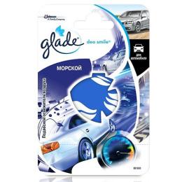 """Glade освежитель воздуха для автомобиля """"Deo Smile. Морской"""" подвесной"""