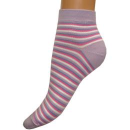 """Грация носки женские """"М 1088"""" сиренево-белые"""