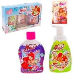 """Winx набор """"Магический коктейль"""" детская гель-пена для душа 340 мл + детская пенка для рук и лица 250 мл + гигиеническая помада для губ 3.7 г"""