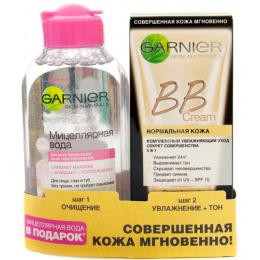 """Garnier набор крем ВВ """"Секрет Совершенства"""" светло-бежевый + мицеллярная вода для чувствительной кожи"""