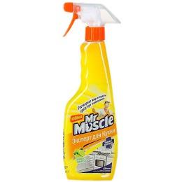 """Мистер Мускул чистящее и моющее средство для кухни """"Свежесть Лимона"""" с распылителем, 450 мл"""