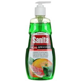 """Sanita мыло жидкое кухонное для рук """"Грейпфрут и Мята"""""""