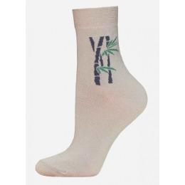 """БЧК носки женские 1501 """"Bamboo"""" рис. 024, песочный"""
