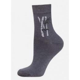 "БЧК носки женские 1501 ""Bamboo"" рис. 024, темно серые"