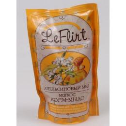 """Le Flirt крем-мыло """"Апельсиновый мед"""" дой-пак"""