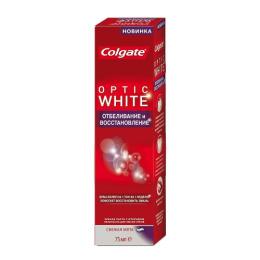 """Colgate зубная паста """"Optic White. Отбеливание и восстановление"""""""
