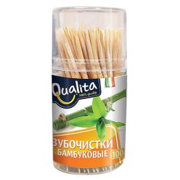 Qualita зубочистки бамбуковые 100шт