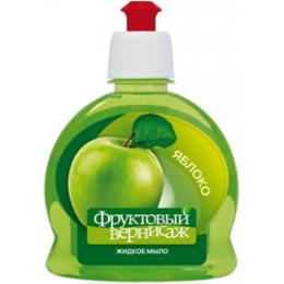 """Фруктовый вернисаж жидкое мыло """"Яблоко """" для рук и тела"""