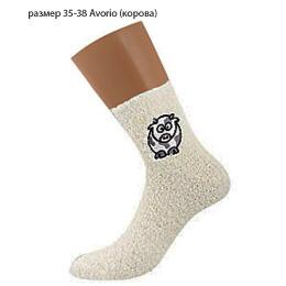 """Griff носки женские """"Donna D9N2"""" Avorio, с аппликацией с ABS (корова)"""