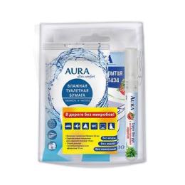Aura трэвел-набор влажная туалетная бумага + сиденье для унитаза + санитайзер спрей