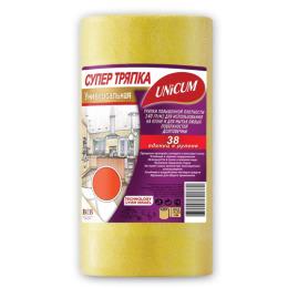 """Unicum тряпка """"Супер"""" универсальная повышенной плотности 24.5 х 23 см в рулоне"""