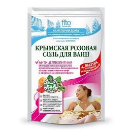 """Фитокосметик соль для ванн """"Крымская розовая"""" антицеллюлитная"""