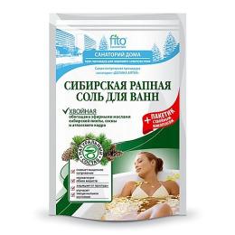 """Фитокосметик соль для ванн """"Сибирская рапная"""" хвойная"""