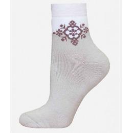 БЧК носки женские 1407 рис. 010, перламутровые
