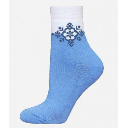 БЧК носки женские 1407 рис. 010, голубые