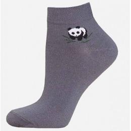 "БЧК носки женские 1502 ""Bamboo"" рис.025, темно-серые"
