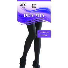 """Dea Mia колготки женские 1464 """"Cotton 300"""" однотонные, черные"""