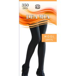 """Dea Mia колготки женские 1472 """"Wool 350"""" однотонные, черные"""