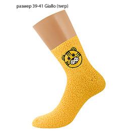 "Griff носки женские ""Donna D9N2"" Giallo, с аппликацией с ABS (тигр)"