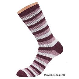 """Griff носки женские """"D9AP4"""" Bordo, полоска"""