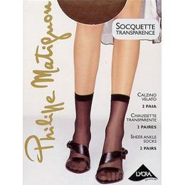 """Philippe Matignon носки """"Socquette 20 transparence"""" Nero, без размера"""